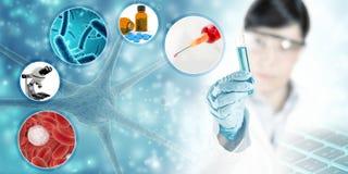Scientific research background vector illustration