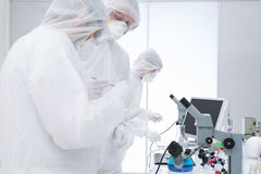 Scientific research in a chemistry lab Stock Photos
