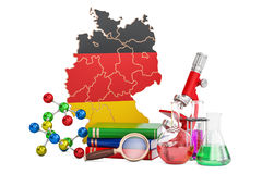 Scientific research in Germany concept, 3D rendering Stock Images