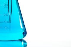 Scientific research glassware pipette drop, reflective white bac Stock Photography