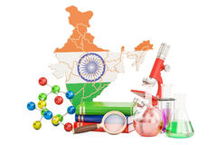 Scientific research in India concept, 3D rendering Stock Image