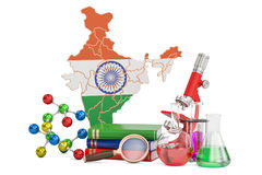 Scientific research in India concept, 3D rendering Stock Photo