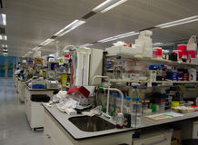 Scientific research laboratory. Interior of a scientific research laboratory Stock Photos