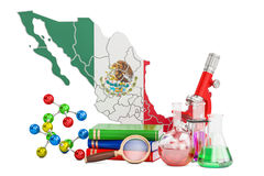 Scientific research in Mexico concept, 3D rendering Royalty Free Stock Image