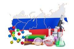 Scientific research in Russia concept, 3D rendering Stock Photo