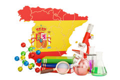 Scientific research in Spain concept, 3D rendering Royalty Free Stock Image
