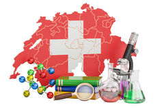 Scientific research in Switzerland concept, 3D rendering Royalty Free Stock Images