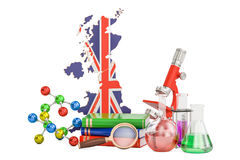 Scientific research in United Kingdom concept, 3D rendering Royalty Free Stock Images