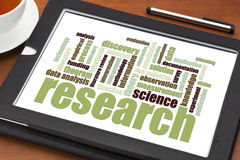 Scientific research word cloud Royalty Free Stock Photo