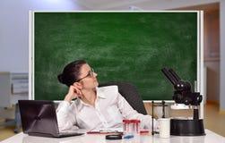 Scientific researcher female Stock Image