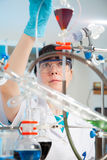 Scientific researcher  in a lab Royalty Free Stock Photo