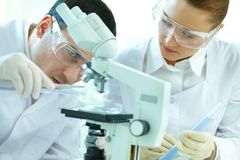 Scientific scrutiny Stock Photo
