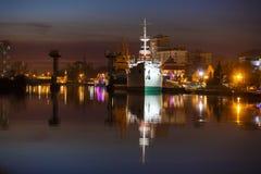 Scientific ship in Kaliningrad Royalty Free Stock Image