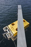 Scientific submarine robot with crane ready to be submerged Stock Photography
