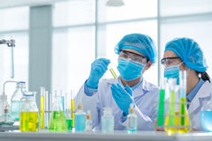 Scientific team Royalty Free Stock Images