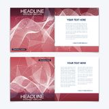 Scientific templates square brochure, magazine, leaflet , flyer, cover, booklet, annual report. Scientific concept for Royalty Free Stock Photos