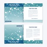 Scientific templates square brochure, magazine, leaflet , flyer, cover, booklet, annual report. Scientific concept for Royalty Free Stock Photo