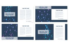 Scientific templates square brochure, magazine, leaflet , flyer, cover, booklet, annual report. Scientific concept for Royalty Free Stock Images