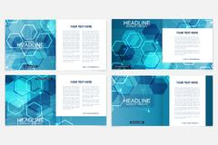 Scientific templates square brochure, magazine, leaflet , flyer, cover, booklet, annual report. Scientific concept for Stock Photography