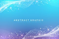 Scientific vector illustration genetic engineering and gene manipulation concept. DNA helix, DNA strand, molecule or. Atom, neurons. Abstract structure for Vector Illustration