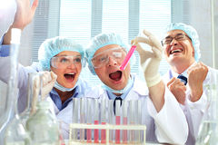 Scientific victory Royalty Free Stock Photography