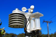 Scientific weather station Royalty Free Stock Images