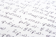 Scientific writing close up Royalty Free Stock Images
