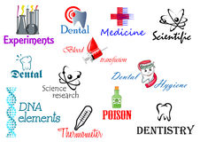 Scientifical and medical symbols Royalty Free Stock Photo