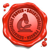 Scientifically Proven - Stamp on Red Wax Seal. Royalty Free Stock Photo