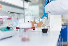 Scientifique dans le laboratoire Photographie stock libre de droits