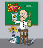 Scientifique de Toonimal illustration de vecteur
