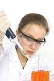 Scientifique féminin Image libre de droits