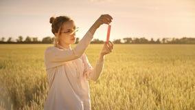 Scientifique féminin faisant la recherche biologique Concept d'agriculture et de science clips vidéos