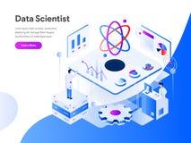 Scientifique Isometric Illustration Concept de données r Vecteur illustration stock