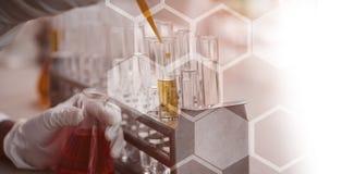 Scientifique Working In Laboratory illustration libre de droits