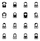 Scientifiques célèbres d'icônes d'avatar Image libre de droits