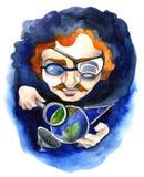 Scientist royalty free illustration