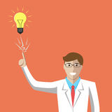 Scientist, aha moment, insight Royalty Free Stock Photos