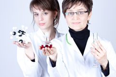 Scientist and assistant in lab Royalty Free Stock Photo