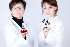 Scientist and assistant in lab Stock Photos
