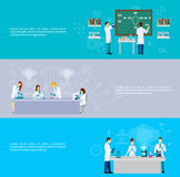 Scientist Banner Set Stock Photography