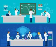 Scientist Banner Set Royalty Free Stock Image