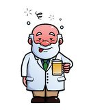Scientist being drunk Royalty Free Stock Photo