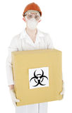 Scientist and biohazard Royalty Free Stock Photos