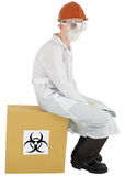 Scientist and biohazard Stock Photography