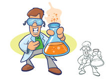 Scientist Cartoon Royalty Free Stock Photo