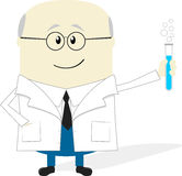 Scientist cartoon isolated on white background Stock Image