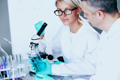 Scientist in chemical lab Stock Photos
