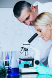 Scientist in chemical lab Stock Photography
