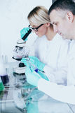 Scientist in chemical lab Royalty Free Stock Images